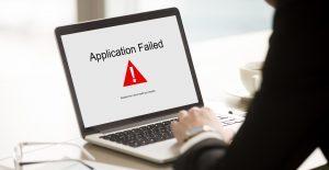 low throughput application failure