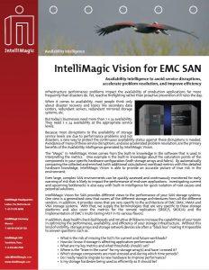 IntelliMagic Vision for EMC SAN