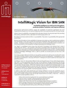 IntelliMagic Vision for IBM SAN