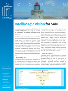 IntelliMagic Vision for SAN