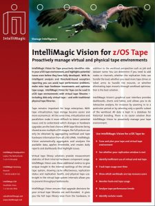 IntelliMagic Vision for zOS Tape