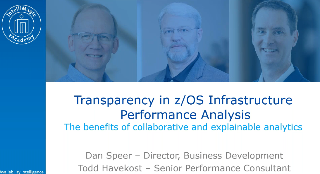 Transparency zOS Infrastructure Performance Analysis