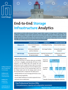 Image of the End-to-End Storage Infrastructure Analytics brochure